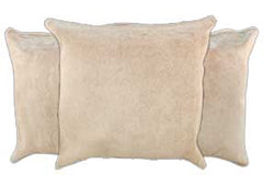 Beige Cowhide Pillows