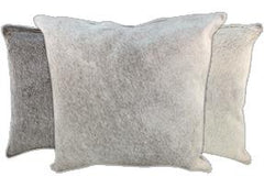 Gris Grey Cowhide Pillows