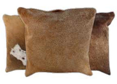 Caramel Cowhide Pillows