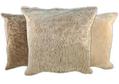 Champagne Cowhide Pillows