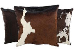 Chocolate Cowhide Pillows