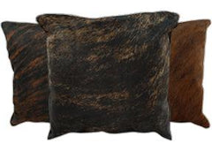 Dark Brindle Cowhide Pillows