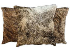 Light Brindle Cowhide Pillows