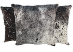 Salt and Pepper Black Cowhide Pillows