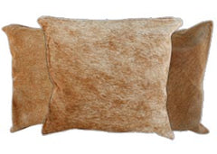 Cappuccino Cowhide Pillows
