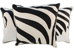 Zebra Cowhide Pillows