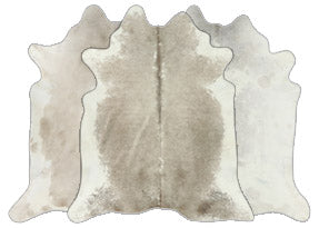 Grey with White Cowhide Rugs