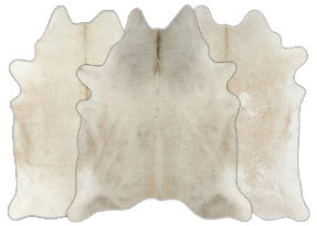 Ivory with Beige Cowhide Rugs