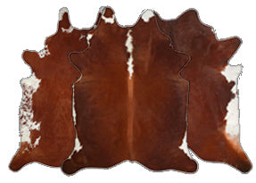 Brown w/ Red Cowhide Rugs