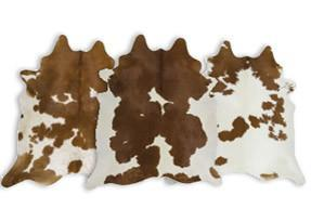 Brown & White Cowhide Rugs