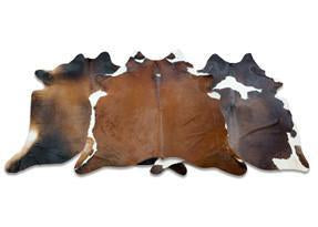 Brown with Red Cowhide Rugs