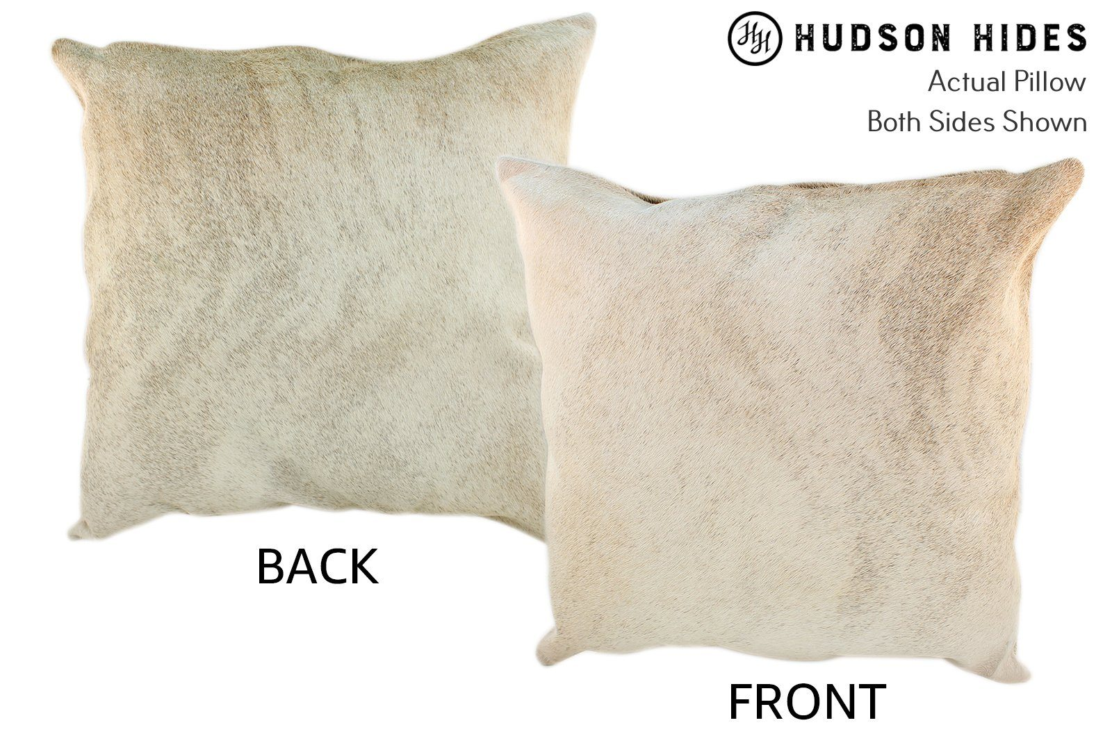 Gris Beige Cowhide Pillow #10057