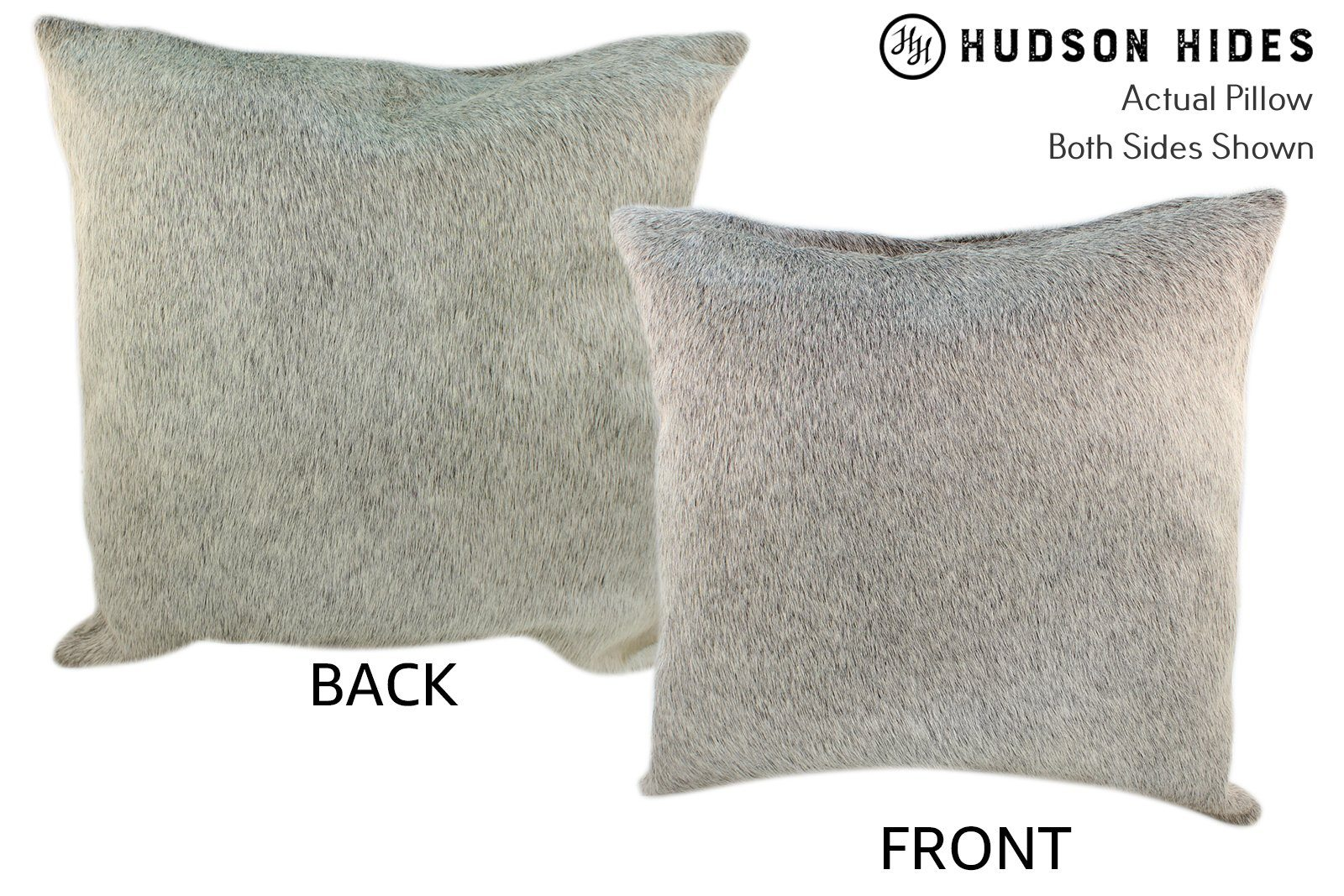 Gris Grey Cowhide Pillow #10155