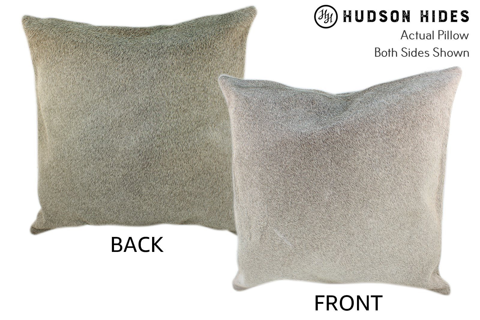 Gris Grey Cowhide Pillow #10170