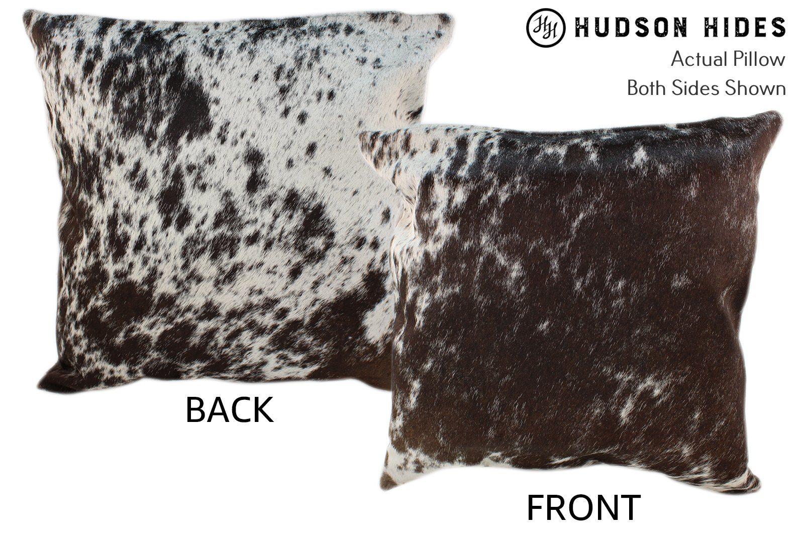 Salt and Pepper Brown Cowhide Pillow #10368