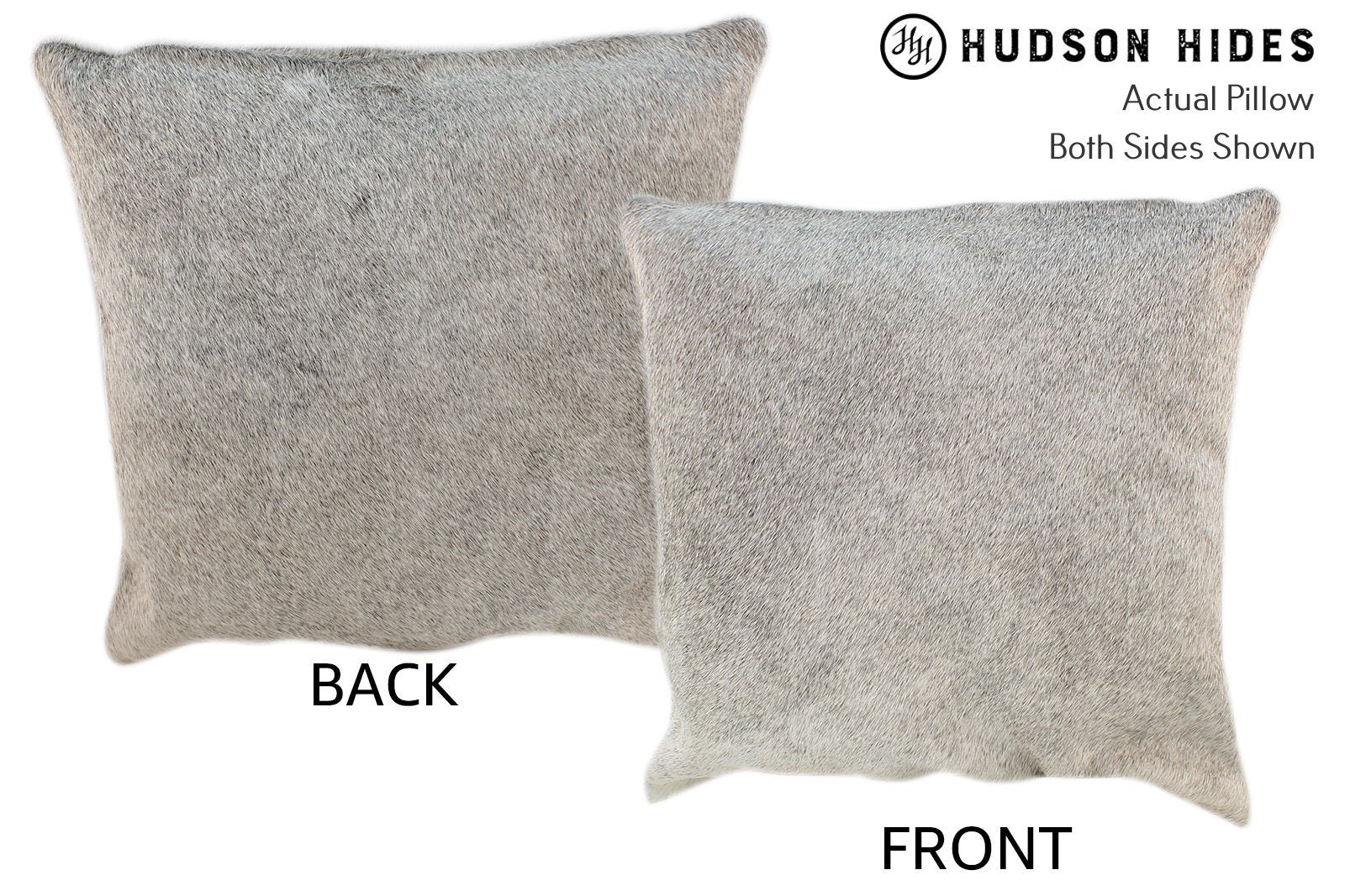 Gris Grey Cowhide Pillow #10633