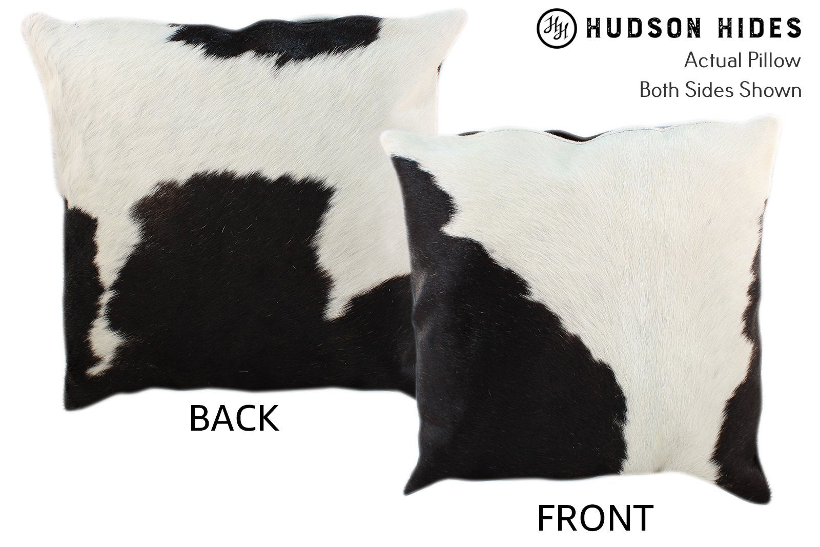 Black and White Cowhide Pillow #10648