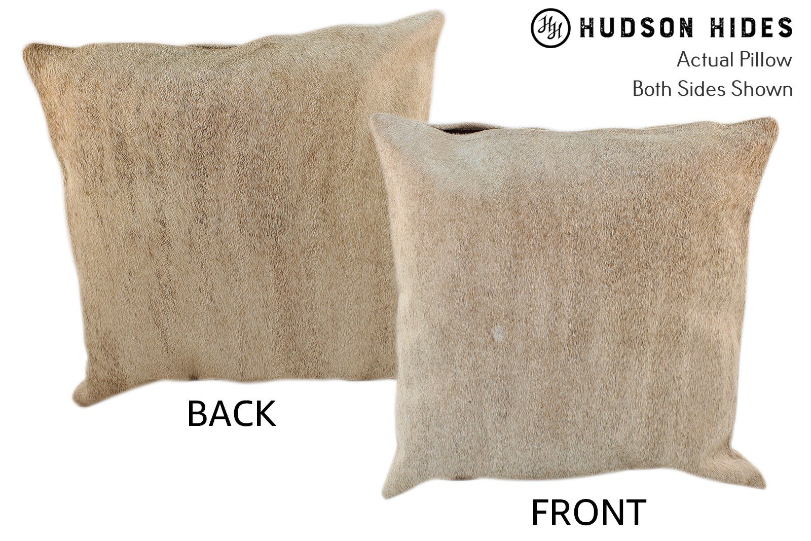 Gris Beige Cowhide Pillow #10992