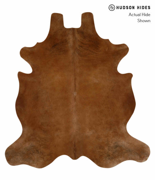Solid Brown Cowhide Rug #12172