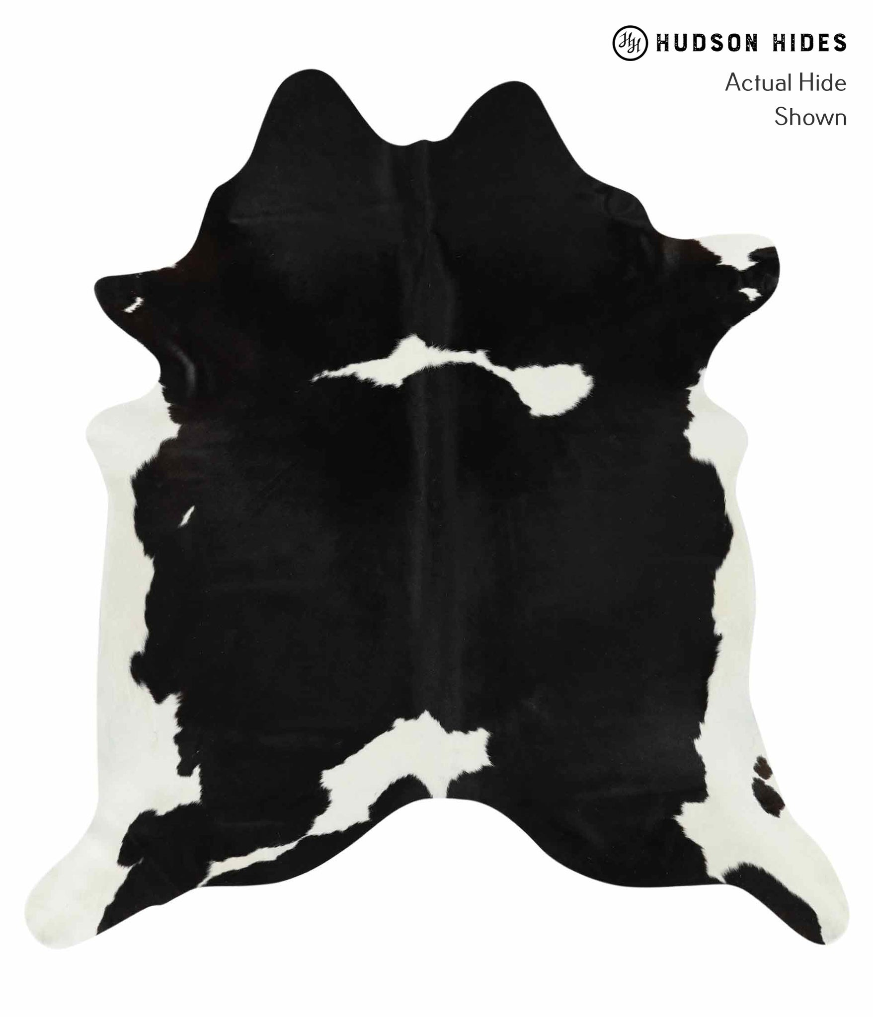 Black and White Cowhide Rug #14550