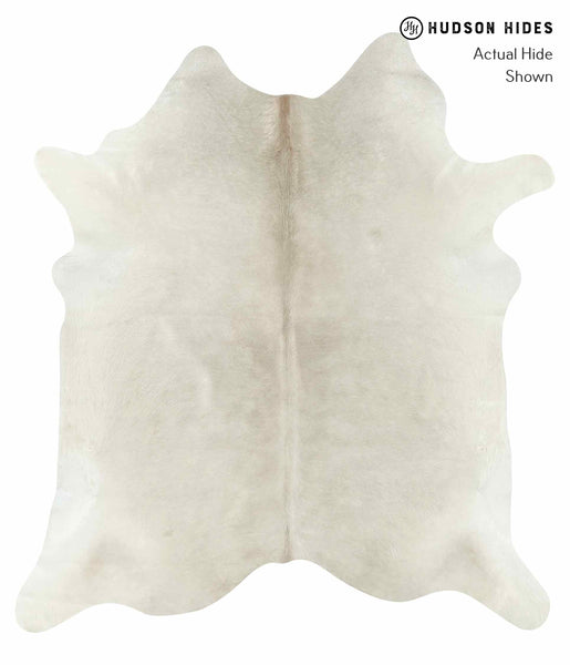 Solid White Cowhide Rug #14980
