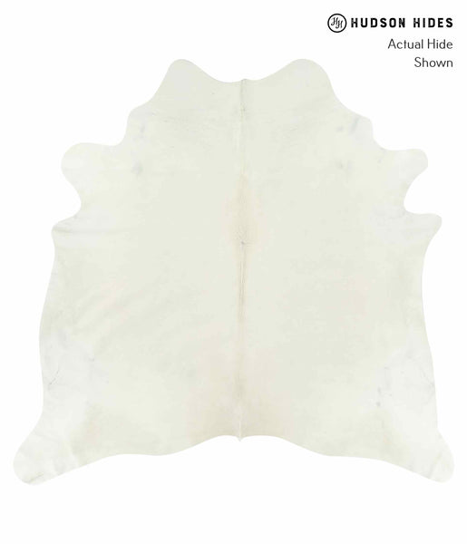 Solid White Cowhide Rug #15109