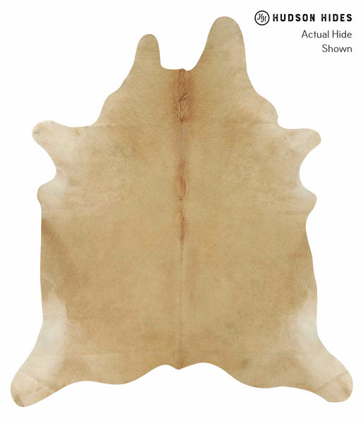 Solid Brown Cowhide Rug #15129