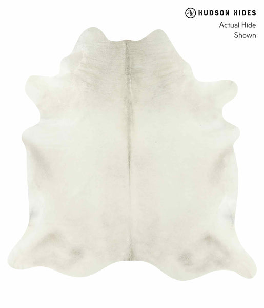 Solid White Cowhide Rug #15254