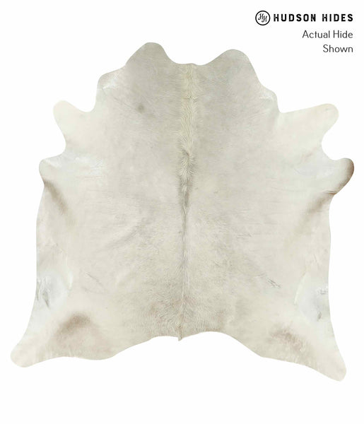 Solid White Cowhide Rug #15283