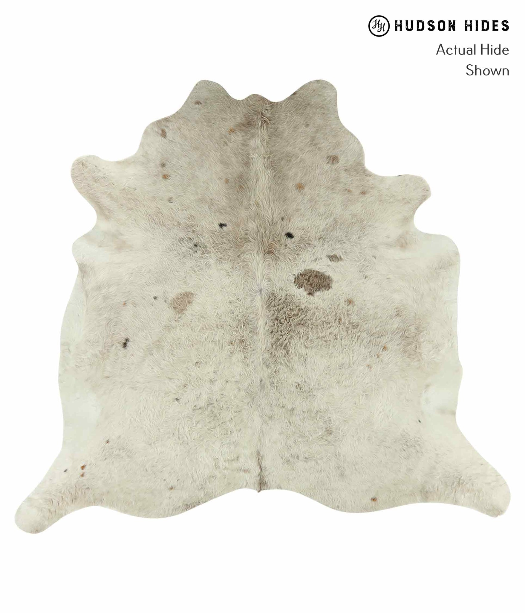 Ivory with Beige Cowhide Rug #15544