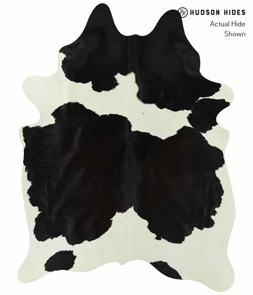 Black and White Cowhide Rug #15592