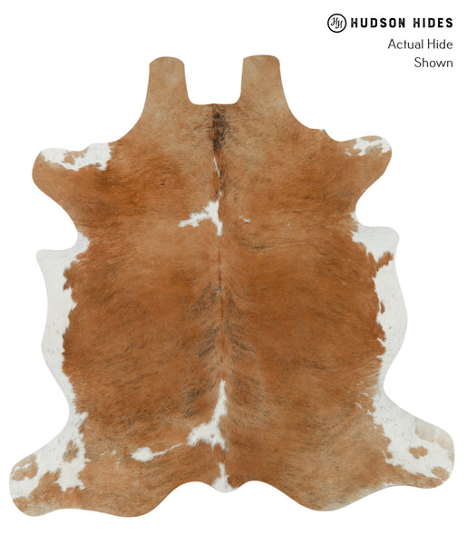 Brown and White Cowhide Rug #15803