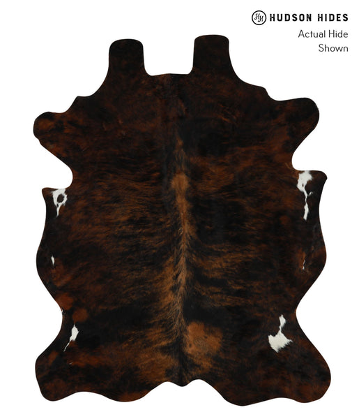 Dark Brindle Cowhide Rug #16026