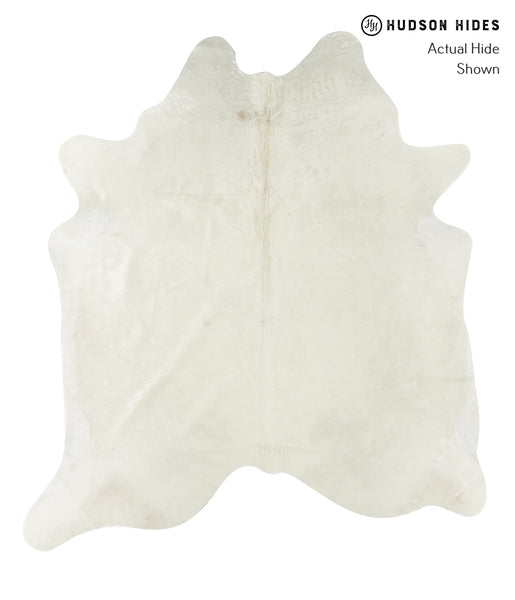 Solid White Cowhide Rug #22380
