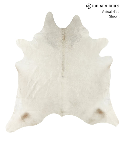Solid White Cowhide Rug #22431