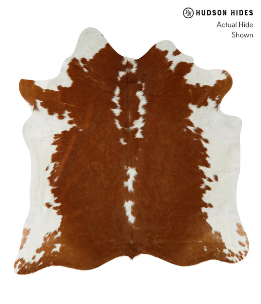 Brown and White Cowhide Rug #22552