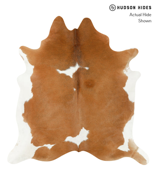 Brown and White Cowhide Rug #22642