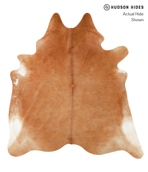 Solid Brown Cowhide Rug #22786