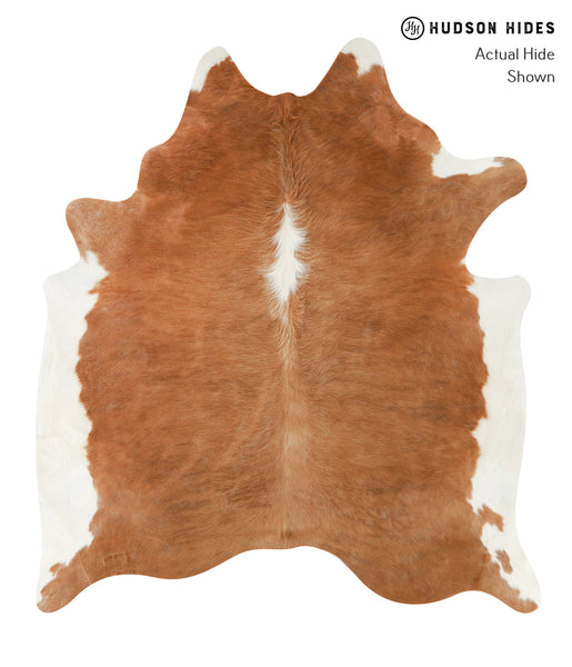 Brown and White Regular Cowhide Rug #23054