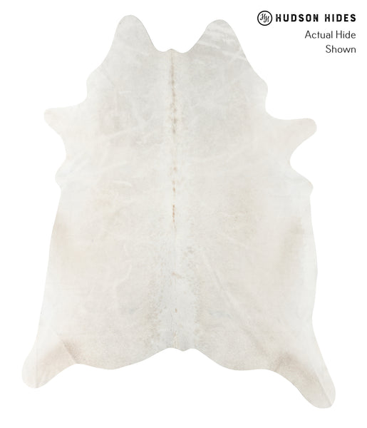 Solid White Cowhide Rug #23378