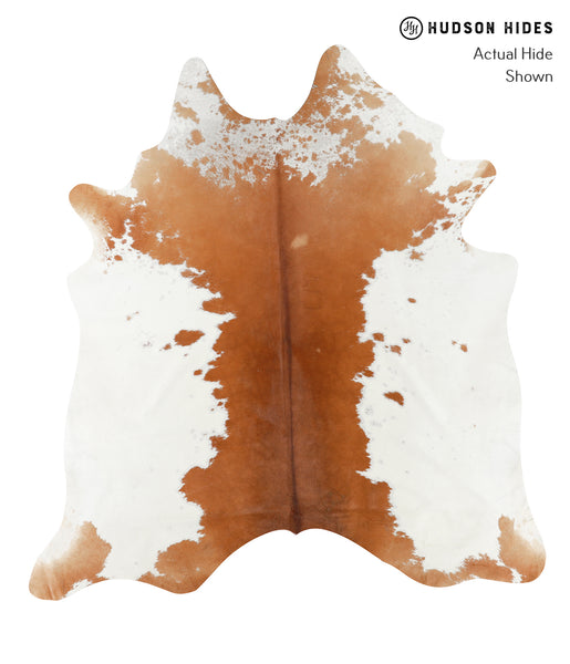 Brown and White Cowhide Rug #23455