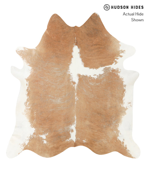 Beige and White Cowhide Rug #23479