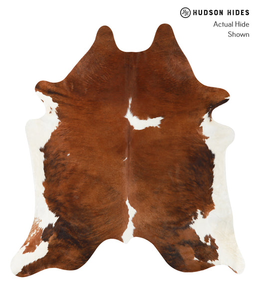 Brown and White Cowhide Rug #23618