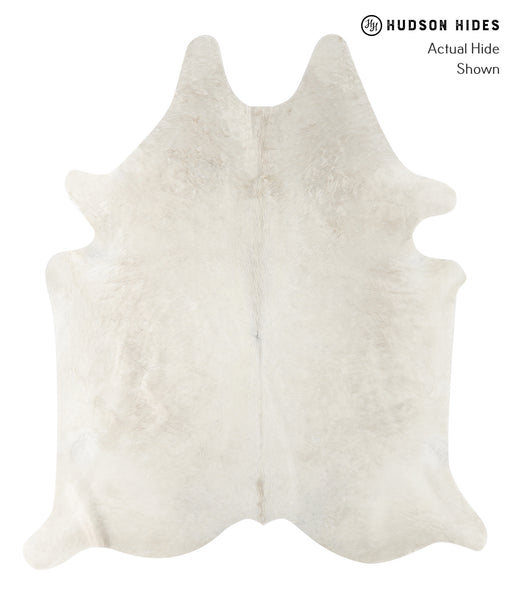Solid White Cowhide Rug #23680
