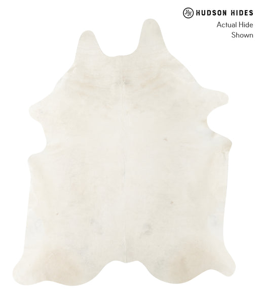 Solid White Cowhide Rug #23723