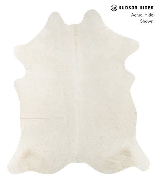 Solid White Cowhide Rug #23785
