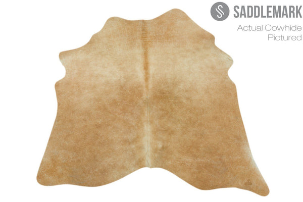"Solid Brown Brazilian Cowhide Rug 5'1"" x 4'6"" by Saddlemark #2413"