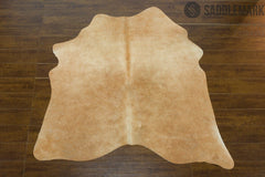 Solid Brown Brazilian Small Cowhide Rug 5'1