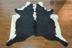 Black and White Brazilian Large Cowhide Rug 6'7