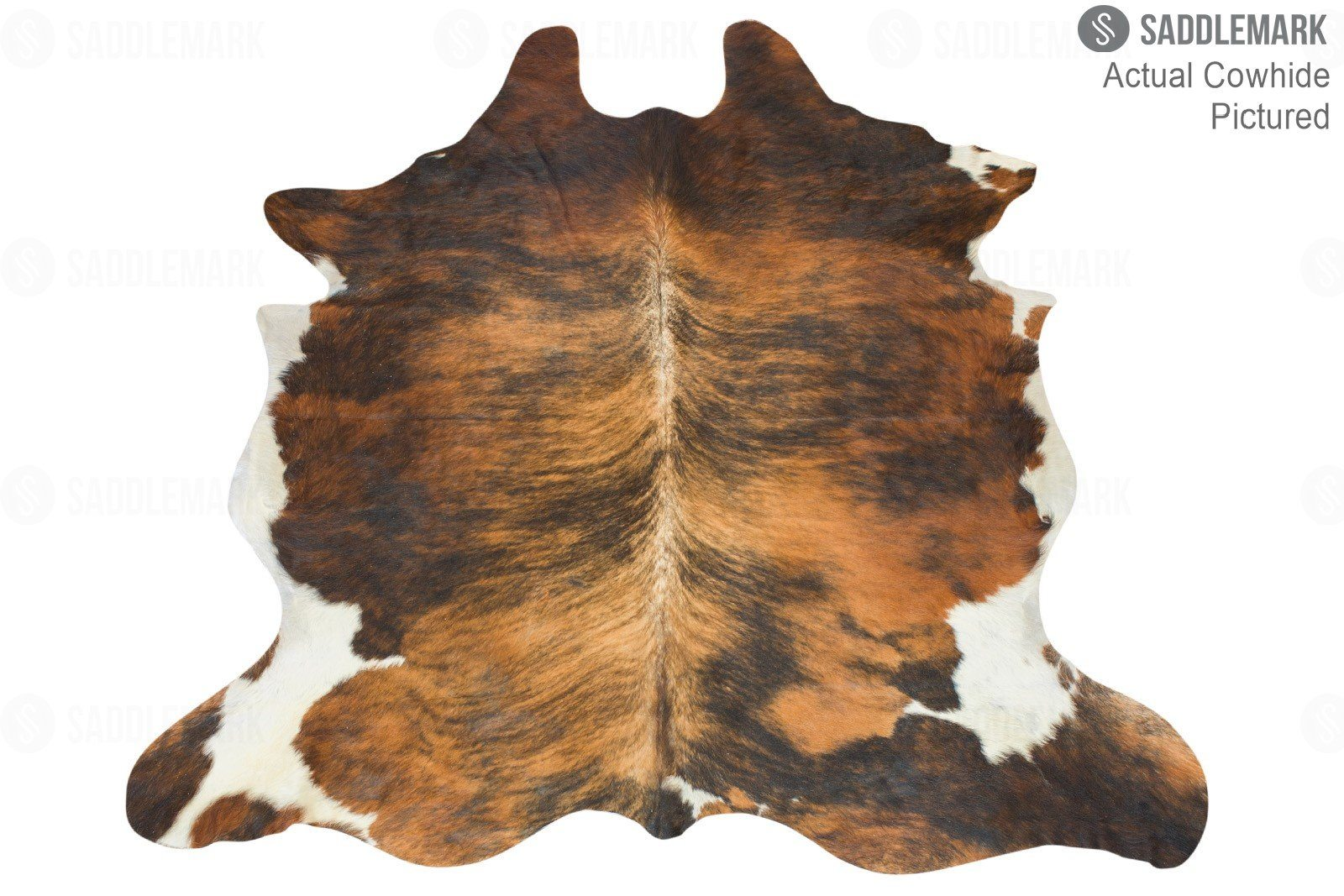 "Dark Brindle European Medium Cowhide Rug 6'9"" x 6'2"" #3012 by Saddlemark"
